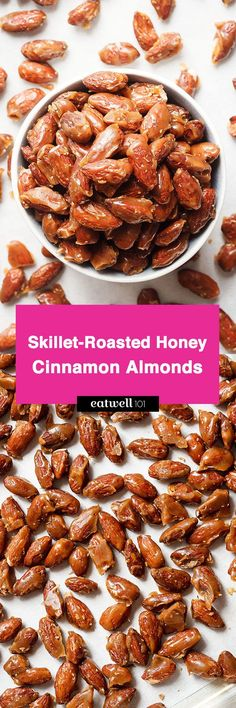 Honey Roasted Almonds with Cinnamon — A quick and easy recipe for an addicting snack for any occasion!