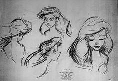 'The Little Mermaid' sketches by Glen Keane