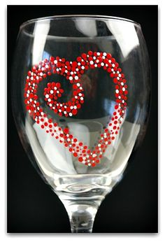 Quick hand painted wine glasses project just in time for Valentine's Day. Have fun with these and paint extras for your next fundraising event or craft show!
