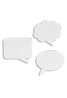 Imã para Recados Umbra Talk Bubbles Branco - Marca Umbra - Dafiti - conj. 3 imãs - 9x7 - R$ 21