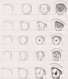 New Ideas Eye Tutorial Anime Drawing Reference Drawing Lessons, Drawing Tips, Drawing Reference, Pose Reference, Drawing Ideas, Drawing Drawing, Art Lessons, How To Draw Anime Eyes, Manga Eyes