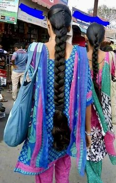 Langes Geflecht - New Site Beautiful Braids, Beautiful Long Hair, Gorgeous Hair, Amazing Hair, Long Braided Hairstyles, Indian Hairstyles, Girl Hairstyles, Indian Braids, Indian Long Hair Braid