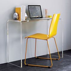 Clear desk from CB2 (http://www.cb2.com/accent-tables/furniture/peekaboo-clear-console/f700)