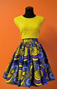 Love the idea of the top with an ankara skirt! So fresh!