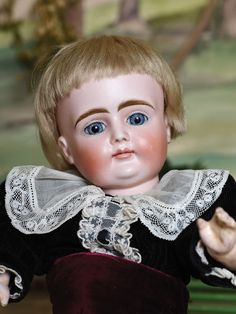 Early closed mouth boy doll marked X, ca 1880 Porcelain Dolls Value, German Boys, Old Dolls, Bisque Doll, Doll Maker, Dollhouse Dolls, Boy Doll, Antique Toys, China Porcelain