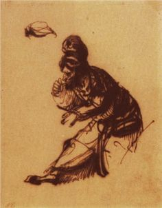 One of the two old - Rembrandt