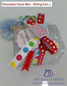 Brightens up any event or party. Chocolate Favors, Favor Boxes, How To Memorize Things, Gift Wrapping, Party, Fun, Gifts, Gift Wrapping Paper, Chocolate Treats