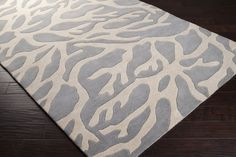 Light Gray Coral Escape Rug by Surya - RosenberryRooms.com