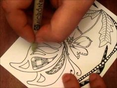 Simple Zentangle Butterfly- fabulous fast forward by someone who knows what she is doing :-)