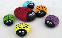 Youve probably seen the big bowling ball ladybugs; how about these cute little ones? http://media-cache7.pinterest.com/upload/200902833347322607_teILCmF7_f.jpg desoto6 crafty ideas