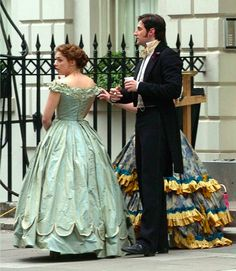 Richard Armitage and Daniela Denby-Ashe on the set of North and South. They should just get married. I love this series.