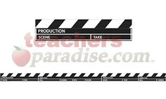 Hollywood Clapboard Deco Trim from TeachersParadise.com | Teacher Supplies and School Supplies