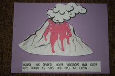 This project teaches the students about the physical features of another place in the world. They learn how the lava oozes out of a volcano. To make this more meaningful for kindergarteners, the activity of painting the lava themselves is included. By manipulating the paint, the students also develop their fine motor skills.