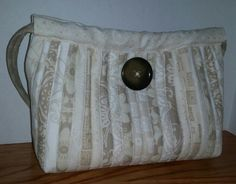 White and beige purse