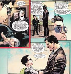 Father and Son Moment Damian Wayne Batman, Son Of Batman, Batman Family, Batman Robin, Batman Stuff, Batman Comics, Dc Comics, Baby Robin, Wayne Family