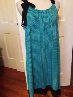 Simply Vera Vera Wang Teal/Black Print Sleeveless Night Gown Size XS | eBay