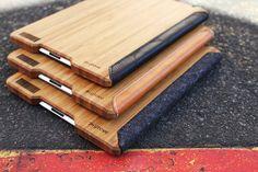 Grove's Felt and Bamboo iPad Case: http://www.grovemade.com/product/ipad-case/#wool-felt-ipad-case