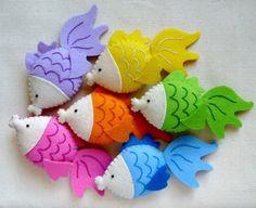 """ooh!"" says Gertrude the Goldfish - Stuffed Felt Animal, $7 via Etsy shop MiChiMa"