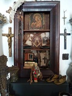 Home Altar ~ A Vintage Green Life Blog ~ Divine!