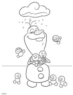 olaf christmas coloring pages   Olaf in Summer Coloring Pages   Free coloring pages for kids!