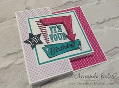Now I know a few of you have been waiting for this tutorial!   The details were linked in the posts before as this card is a merger of ...