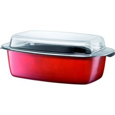 It is fabricated from steel and features a red exterior. The gourmet roasting pan is also nickel-free and anti-bacterial, allowing you to cook, serve, and store your food in a healthy way.