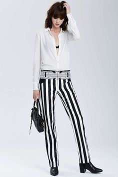 Vintage Balenciaga Málaga Jacquard Striped Trousers | Shop Vintage at Nasty Gal