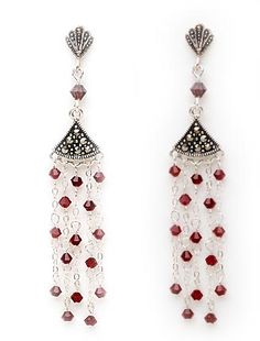 Earrings With Beads And Crystals