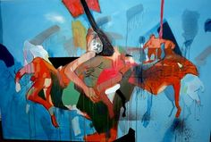 "Saatchi Online Artist Görkem Dikel; Painting, ""Dance in the Dawn "" #art"