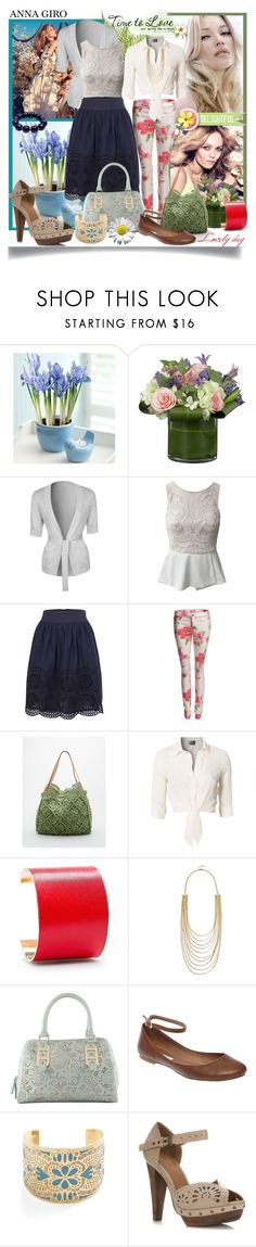Spring Is In The Air by annagiro on Polyvore featuring moda, Lipsy, Zalando, French Connection, Duffy, Miss Selfridge, Steve Madden, Straw Studios, ALDO and MANGO