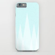 """""""Light Teal Triangles"""" Phone Case"""