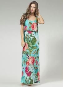Este vestido com este babado até a cintura está usando muito e disfarça bem as imperfeiçoes da parte superior do corpo. Segue esquemas de modelagem  do 36 ao 56.