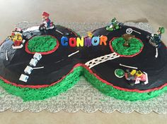 Mario kart cake for my sons 8th birthday! #mario #mariokart #cake #marioparty