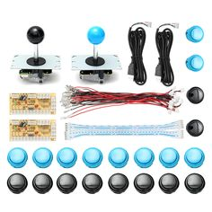 Arcade DIY Kit Dual USB Encoder Controller PC Joystick Push Button