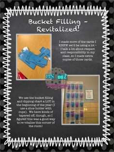 "Re-vamping ""bucket filling"" in my classroom, with a renewed focus on ""hooking"" the boys and making it worth it to them. :)"