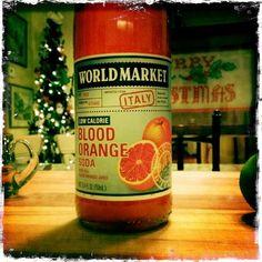 My newest addiction!! <3  Blood Orange soda! Thank you World Market!