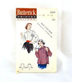 1950s Vintage Butterick Pattern 6224 Misses by TabbysVintageShop, $7.50