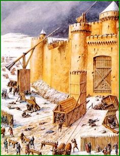 Medieval siege, from the Middle French word for cold-ass waste of time. Ancient Egyptian Art, Ancient Aliens, Ancient Greece, Medieval Life, Medieval Fantasy, Military Art, Military History, Chateau Moyen Age, High Middle Ages