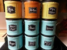 Recycling Containers, Plastic Containers, Coffee Canister, Coffee Cans, Drops Design, Folgers Coffee Container, Tide Pods Container, Tin Can Crafts, Diy Crafts