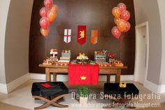 Kids Birthday Party Theme - Knights/Medieval