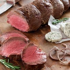 Have you ever made compound butter? Our recipe for Rosemary Black Pepper Butter is delicious with our Easy Roasted Beef Tenderloin.