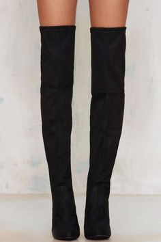 062ac6c1a83 Satin For the Kill Calf Boots. Over Thr Knee ...