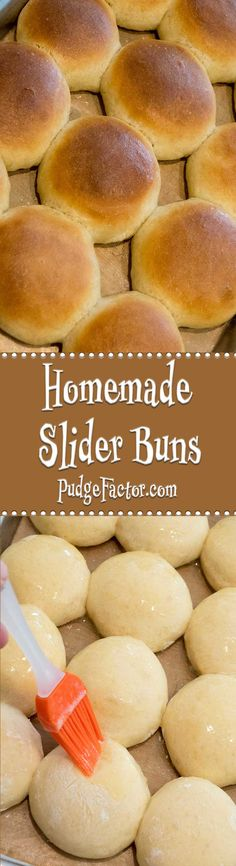 Sliders are perfect for a party or pot luck. Although you can buy slider buns, the homemade variety is so much better, and is super easy to make! via @c2king