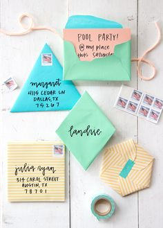 how to fold your own geometric envelopes, check out all the details on the blog!