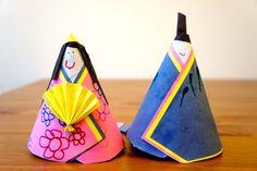 Hina matsuri dolls made of paper