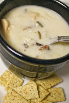 Creamy Chicken  & Wild Rice Soup  Winter Soup Recipes to warm you up!