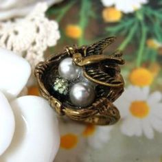 Bird Ring Copper - One Size
