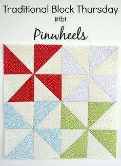 Penny Rose Fabrics Blog: Traditional Block Thursday: Pinwheels