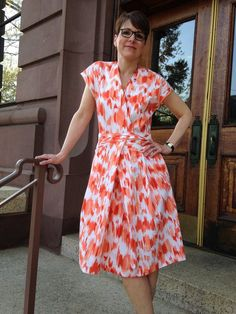 Wrap Dress with Pleats 03/2015