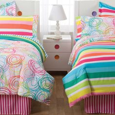 PEM America Little Miss Matched Swirly Curly Twin Bed Ensemble
